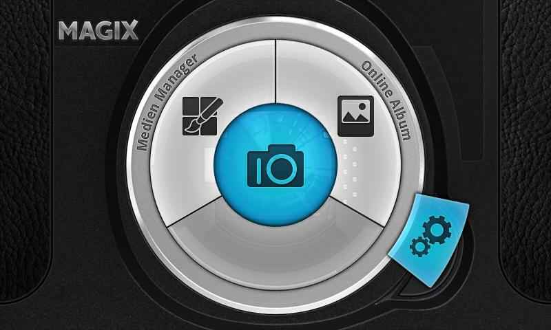 Android Kamera-App: Magix CameraMX - Startscreen